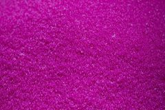 Close-up scene the  pile of pink raw plastic materials. The pellet of the thermoplastic material for injection process royalty free stock photos
