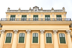 Close up of Schonbrunn Palace in Vienna Stock Photography