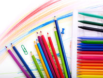 Close up of school supplies. Stock Photography
