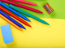 Close up of school supplies. Royalty Free Stock Photo