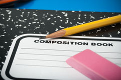 Close-up of school supplies Stock Images