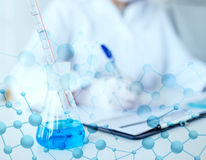 Close up of scientist making test in laboratory Stock Photography