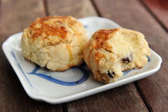 Close Up Of Scone. Fresh Scone Served On wood Table Stock Image