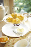 Close up scone and yam Royalty Free Stock Photo