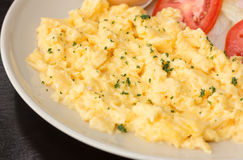 Close up Scrambled egg Stock Image