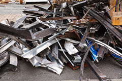 Close up of scrap metal Royalty Free Stock Photo
