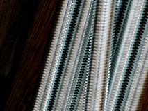 Close up of screw thread Royalty Free Stock Images