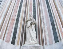 A close up of a sculpture of the duomo Stock Photos