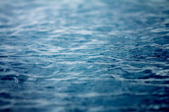 Close up the sea and ocean water surface , selective focus Royalty Free Stock Photography