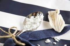 Close up sea salt Stock Images