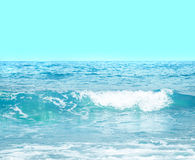 Close up sea water surface,selective on wave Royalty Free Stock Image
