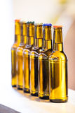Close-up of sealed beer bottles Stock Photography