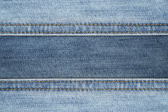 Close up Seam Jeans abstract texture background Royalty Free Stock Images