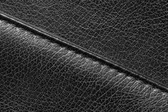Close up of seam on leather product Stock Images