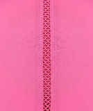 Close up of a seam, pink fabric texture Royalty Free Stock Photo