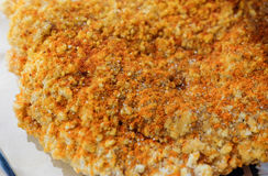 Close up of seasoning msg on spicy chicken. Close up of msg seasoning  on spicy chicken Royalty Free Stock Images