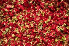 Close up secado de Rose Flowers And Tea Herbs imagem de stock