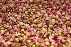 Close up secado de Rose Flowers And Tea Herbs fotos de stock