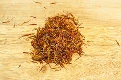 Close up seco do açafrão Fotos de Stock Royalty Free
