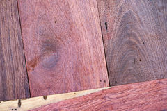 A close up section of Aromatic Red Cedar Lumber Wooden background. Royalty Free Stock Photos