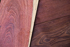 A close up section of Aromatic Red Cedar Lumber Wooden background. Royalty Free Stock Photography