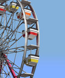 Close-up section of a ferris Wheel isolated. Royalty Free Stock Images