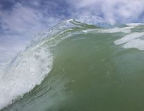 Close up section of wave breaking Stock Images