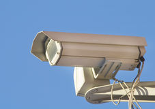 Close-up of a security digital cctv camera Royalty Free Stock Photos