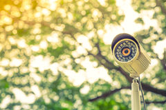 Close up of security surveillance ( Filtered image proces Royalty Free Stock Photos