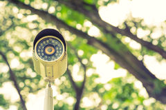 Close up of security surveillance  ( Filtered image proces Stock Images