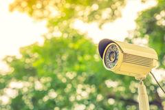 Close up of security surveillance  ( Filtered image proces Royalty Free Stock Image