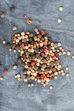 Close up selection of various pepper types Stock Images