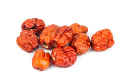 Close up and selective focus on the dried Chinese Red Dates at the foreground Stock Images