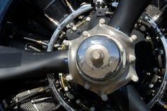 Close up seletivo do motor de aviões radial Imagem de Stock