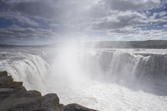 Close-up of Selfoss waterfall Royalty Free Stock Photo