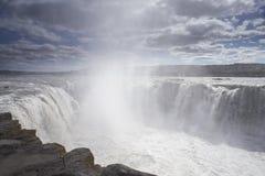 Close-up of Selfoss waterfall Royalty Free Stock Photo