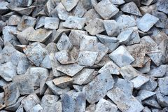 Semi-finished pig iron. Close up of semi-finished pig iron, ready for shipment royalty free stock images