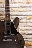 Close up semi hollow guitar Stock Photography