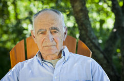 Close-up of a senior man looking at the camera Royalty Free Stock Photography