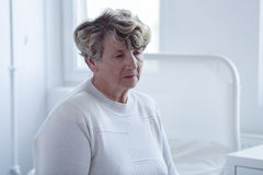 Close-up of senior patient Royalty Free Stock Image