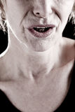 Close-up of a Senior Woman Mouth Stock Photography