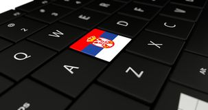 Close up of Serbia button. Royalty Free Stock Photo