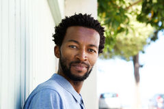 Close up serious african american man staring Stock Photos