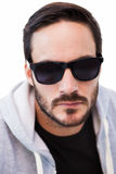 Close up of serious man wearing sunglasses Royalty Free Stock Photos