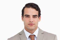 Close up of serious salesman Stock Image