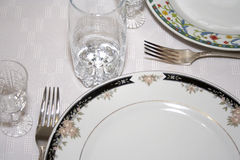 Close-up of served table 6 Stock Photo