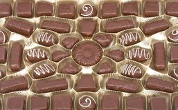 Close-up set of chocolate Royalty Free Stock Photos