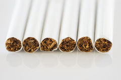 Close up set of cigarettes Stock Photo