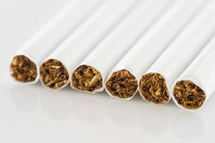 Close up set of cigarettes Royalty Free Stock Images