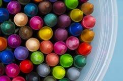 Crayons. Close up set of crayons and mix color Stock Photography